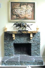 stacked stone fireplace decorating ideas decorative mantels
