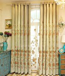 Patterned Blackout Curtains Vintage Green Thick Chenille Floral And Butterfly Patterned