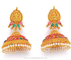 temple design gold earrings gold plated antique temple jhumka online buying gold and indian