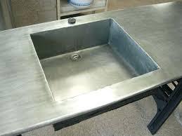 plan de travail en zinc pour cuisine cuisine en zinc dsc03610 meuble cuisine zinc maison du monde