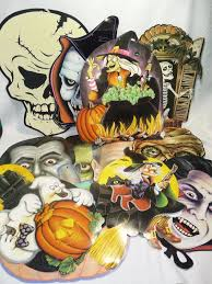 lot of 12 beistle amscan other vintage halloween cut outs
