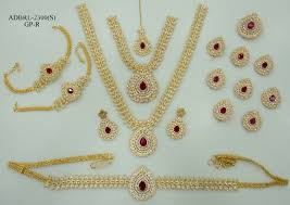 wedding earring necklace set images Adbrl2300gpr american diamond grand full bridal jewellery set buy jpg