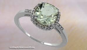 Amethyst Wedding Rings by White Gold Green Amethyst Engagement Ring With Different Types Of