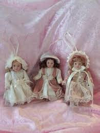 doll heads ornaments doll with stand