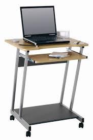Pc Schreibtisch Buche Pc Tisch Computertisch Computerwagen Mit Ablage Amazon De Küche