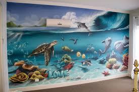 underwater kids bedroom interior graffiti artist melbourne kids bedroom interior underwater theme