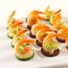 canapes with prawns avocado prawn bites recipes to cook recipes and food