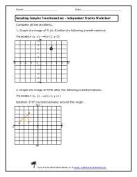 dilation practice worksheet 28 templates transformations