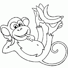 how to draw a monkey eating a banana free download clip art