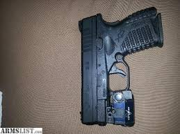 springfield xds laser light combo armslist for sale spring field xds 45cal with a veridian green