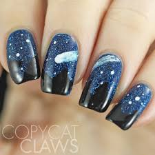 copycat claws necklace inpsired meteorite nail art