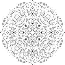 brilliant ideas printable sunflower mandala drawing free