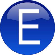 e blue e clip art at clker com vector clip art online royalty