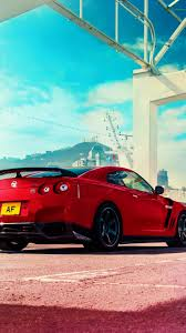 2017 nissan wallpaper hd background nissan gt r red color rear view sportscar wallpaper