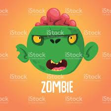 Cute Halloween Vector Cute Cartoon Zombie Head Halloween Vector Illustration Isolated