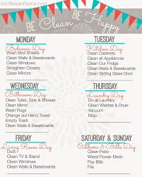 printable house cleaning schedule find your favorite printable cleaning schedule cleaning schedules