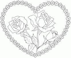 imagenes para colorear rosas dibujo de rosas para enamorados dibujo para colorear de rosas para