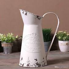 2017 elegant french style country primitive pitcher flower vase