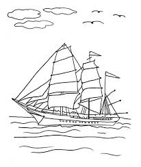 Spain Explorer Sailing Boat Coloring Pages Batch Coloring