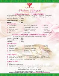 wedding packages shalimar banquets wedding packages