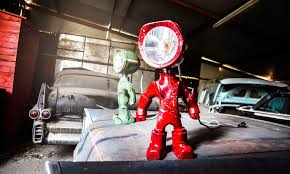 lampster robot lamp cool material