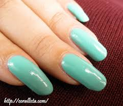 pastel mint green nails with colorbar nail color exclusive 15