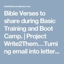 bible verses to share during basic training and boot camp boot