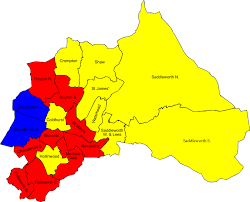 map of oldham map local elections 2007 oldham