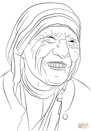 mother teresa coloring page mother teresa coloring page free