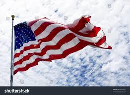 United Staes Flag United States Flag Waving Wind Beautiful Stock Foto 58760866