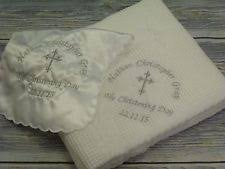 personalized christening blanket christening blanket ebay