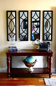 foyer mirrors foyer decorating ideas with stained console table and mirrors