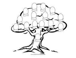 tree coloring page template