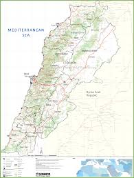 Beirut On Map Large Detailed Map Of Lebanon