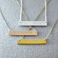 customizable necklaces personalized bar necklace custom name necklace 925 silver bar