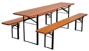 Folding Table And Bench Set Beer Garden Set U201cstandard U201d