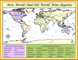 Regions World Map by My Wine Journal A Map Of New And Old World Wine Regions