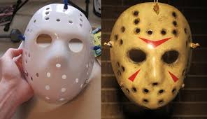 jason mask halloween painting and weathering a jason mask friday the 13th youtube