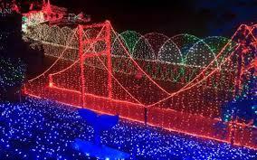 outdoor mushroom lights cambria christmas market light show brighter than ever the tribune
