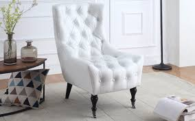 ennio classic tufted faux leather armchair with casters