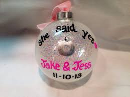 engagement ornament she said yes ornament personalized
