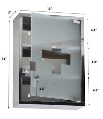 Wall Mounted Cabinet With Glass Doors by Evideco Wall Mounted Mirrored Medicine Cabinet Miami White 1 Door