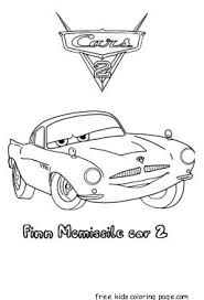 finn mcmissile cars 2 coloring pages kidsfree printable
