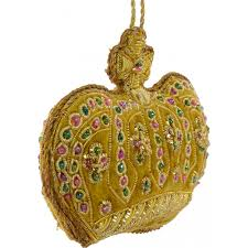 zardozi crown ornament gold mardigrasoutlet