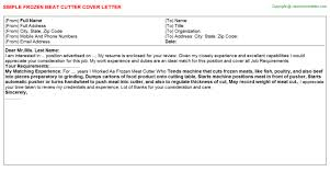 Meat Cutter Job Description Resume by Meat Cutter Cover Letters