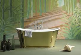 Freestanding Bathroom Accessories the usk brass freestanding cast iron bateau bath