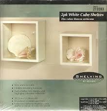amazon com 2 pack white cube shelves home u0026 kitchen