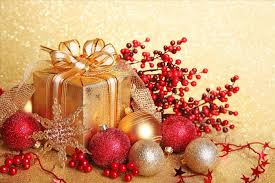 red and gold christmas background ne wall