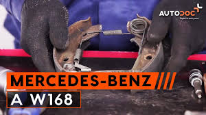 how to replace rear brake drums and rear brake pads on mercedes