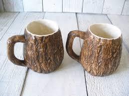 Tree Mug Rustic Ceramic Mugs Vintage Tree Bark Rustic Ceramics Tree Bark